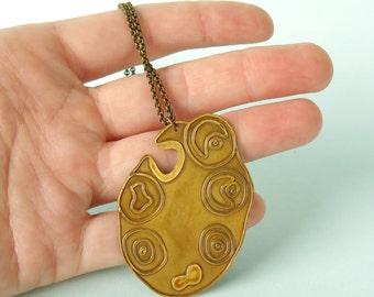 Ovary Brass Necklace SALE ITEM