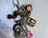 Handbag/Backpack Accessory  Charm, Elvis Presley II themed, rock and roll, music
