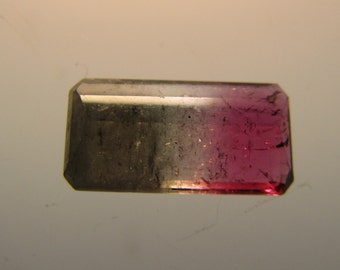 Faceted Watermelon Tourmaline Gemstone - 2.5 carats