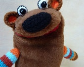 Bear -  simple plush moving mouth hand puppet
