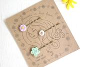 Trio of floral hairpins bobbie pins