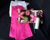 24 Piece Rag Curls Set with Comb, Spray Bottle, and Travel Bag ~ Carnival Bloom ~ by Talulah Bean