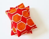 Organic Lavender Scent Bags, Modern Bedroom Decor, Orange & White Geometric