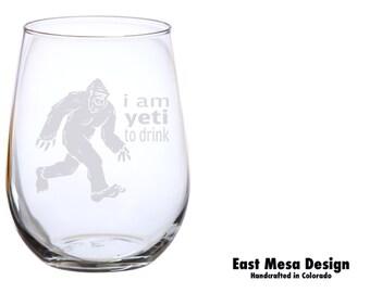 BigFoot  Yeti to Drink Wine Glass