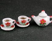CLEARANCE SALE - Tea Set for Two  (1:12th scale)