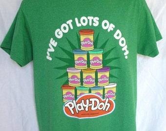 Vintage Play Doh Shirt, Play Doh TShirt, Green TShirt, Size Medium, Collectible Shirt, Vintage Clothing, Vintage TShirt, Ive Got Lots Of Doh