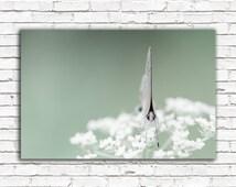 Butterfly photo, nature art, white flowers, teal green decor, pretty wall art, nature print, dreamy feminine home decor, bathroom decor