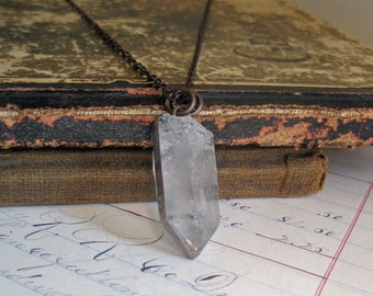 Raw Crystal Boho Jewelry Quartz Necklace