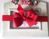 Holiday Girls Red Bow Stretch Headband