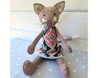 Miss Matilda Catkin cat softie pattern instant download
