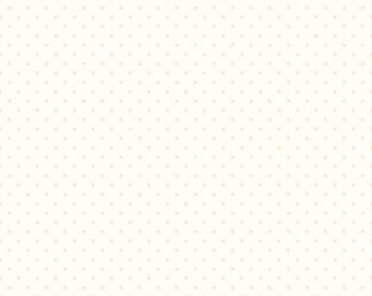 Cream on Cream, Swiss Dots, Riley Blake, Swiss Dots on Cream, Modern, Classic, Pin Dot, Essential, Backing, SALE, You Choose Yardage