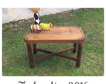 Rustic Coffee Table - Coffee Table - Rustic Furniture - Outdoor Coffee Table - Wooden Bench - Chic