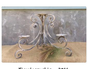 Candle Holder - Fireplace Candelabra - Candelabra - Metal Candelabra - Pillar Candle Holder - Farmhouse Decor - CHIC