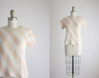 peach blush knit blouse