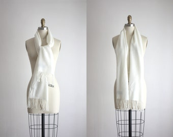 vintage white winter scarf