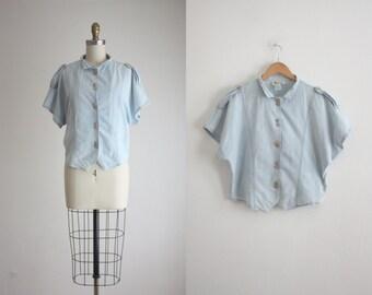 1980s chambray blouse