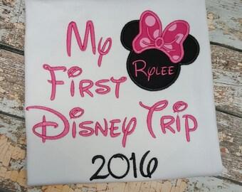 First Disney Trip, Disney Vacation, Personalized Disney Shirt