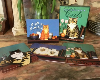 Museum Cards GLORIOUS CATS Blank Notecards Set Jay Johnson Gallery Stationery Set Boxed