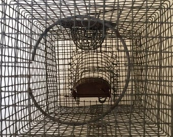 Vintage animal trap, Rat Trap, Laboratory Rat, Cage, Small Animal Cage.