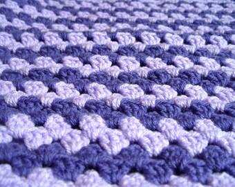 Crochet Baby Blanket Purple Blanket Baby Shower Gift Unisex Baby Blanket Lilac Blanket