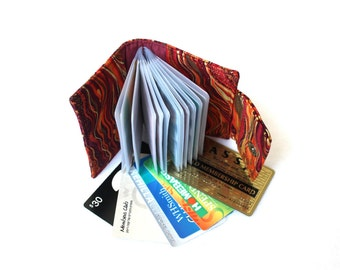 card holder wallet - small photo album - brag book - loyalty card holder - business card holder - coupon organizer - credit card wallet