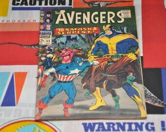 The Avengers #33 Marvel Comics 1966 Vintage 60's Captain America