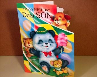 Vintage Birthday Card - Son - Happy Birthday Son