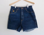 Vintage Gloria Vanderbilt Murjani Stretch Denim Hight Waist Shorts W 26 27 Ladies cut-off shorts Roll up Womans 12 fits modern S to M