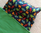 Personalized Nap Mat. Great for daycare, preschool or kindergarten, boys. Dinosaurs.