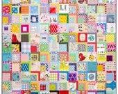 A Color Splash Quilt - Modern Patchwork Quilt
