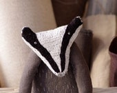 Badger. Soft sculpture