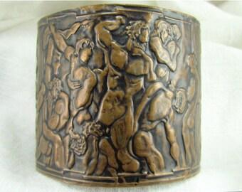 Circa 1920 Brass Cuff