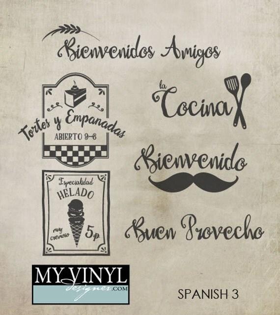 Kitchen Signs In Spanish: Spanish Kitchen SVG Files Kitchen Decor Cuttable SVG Files