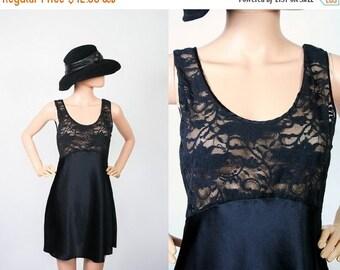 Vintage Victoria's Secret Black Babydoll Nightie / Sheer Lace  Lingerie Teddy / Sleepwear Pajamas / Boudoir Mini Dress / Mod / Small