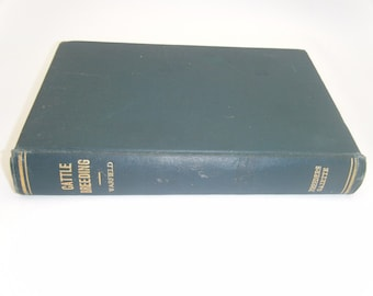 Antique Farm Book 1907 CATTLE BREEDING Agriculture Animal Husbandry Farming Life