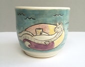 "Cat Cup 2, ""Happier Times Ahead"" Proceeds to Benefit Louisiana Flood Relief (Cat/Grey2)"