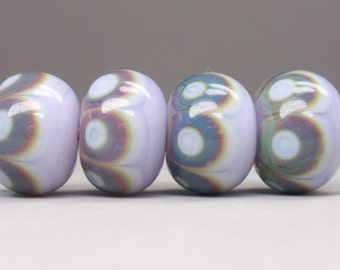 4 handmade lampwork beads
