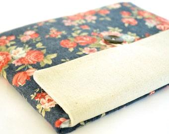 "Laptop Bag Padded Sleeve Clutch for Custom Laptops, 11"", 13"" MacBook Pro, Air, New MacBook 12 inch - Vintage Flowers"