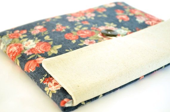 "Laptop Bag Padded Sleeve Clutch for Custom Laptops, 11"", 13"" MacBook Pro, Air, New MacBook 12 inch - Vintage Flowers"