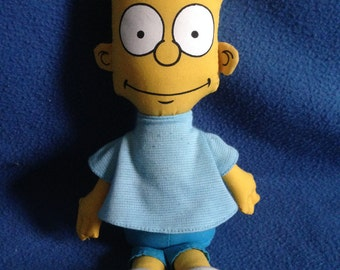 "Vintage 1990, The Simpsons, Bart Simpson, 10"" Plush Doll."