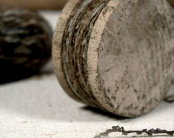 Linen/Cotton Fiber on Wooden Spool * 24 yds * packaging * crafts * home decor