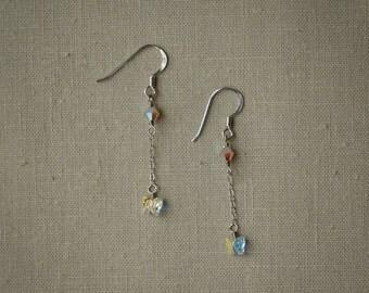 Dainty Swarovski butterfly earrings
