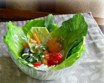 Fake Bowl of Garden Tossed Salad Fake Food Photo Staging Prop