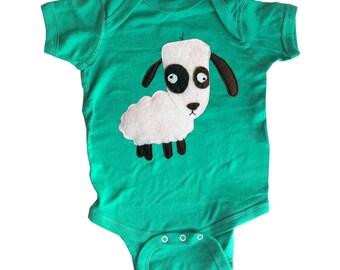 mi cielo x Matthew Langille - Sheep – Kelly Green Infant Bodysuit – Boys or Girls