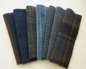 Deep Blue - Navy - Blue - Felted Wool Fabrics - Hand Dyed Felted Wool Fabrics Perfect for Rug Hooking and Applique by Quilting Acres