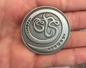 Antique Silver STS9 pin by Claire Godbee ~
