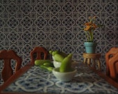 1/12 and 1/24 Scale Downloadable Printable Portuguese Dollhouse Tile Wallpaper