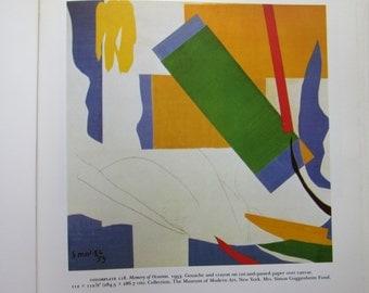 Henri Matisse-- Memory of Oceania, Vintage Bookplate, 1988 Bookpage, Unframed Fine Art Print