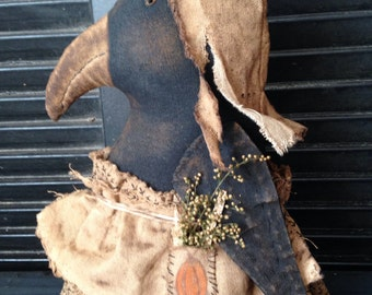 Primitive Fall Crow Doll