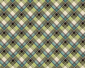 Free Spirit Fabric Denyse Schmidt Ansonia - Corner Plaid - Mossy PWDS065 BTY